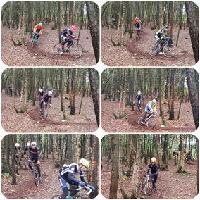 Collage mountainbiken